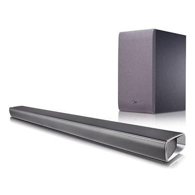 LG SJ 5 2.1 Soundbar silber 320 Watt Drahtloser Subwoofer Bluetooth HDMI USB 2.0
