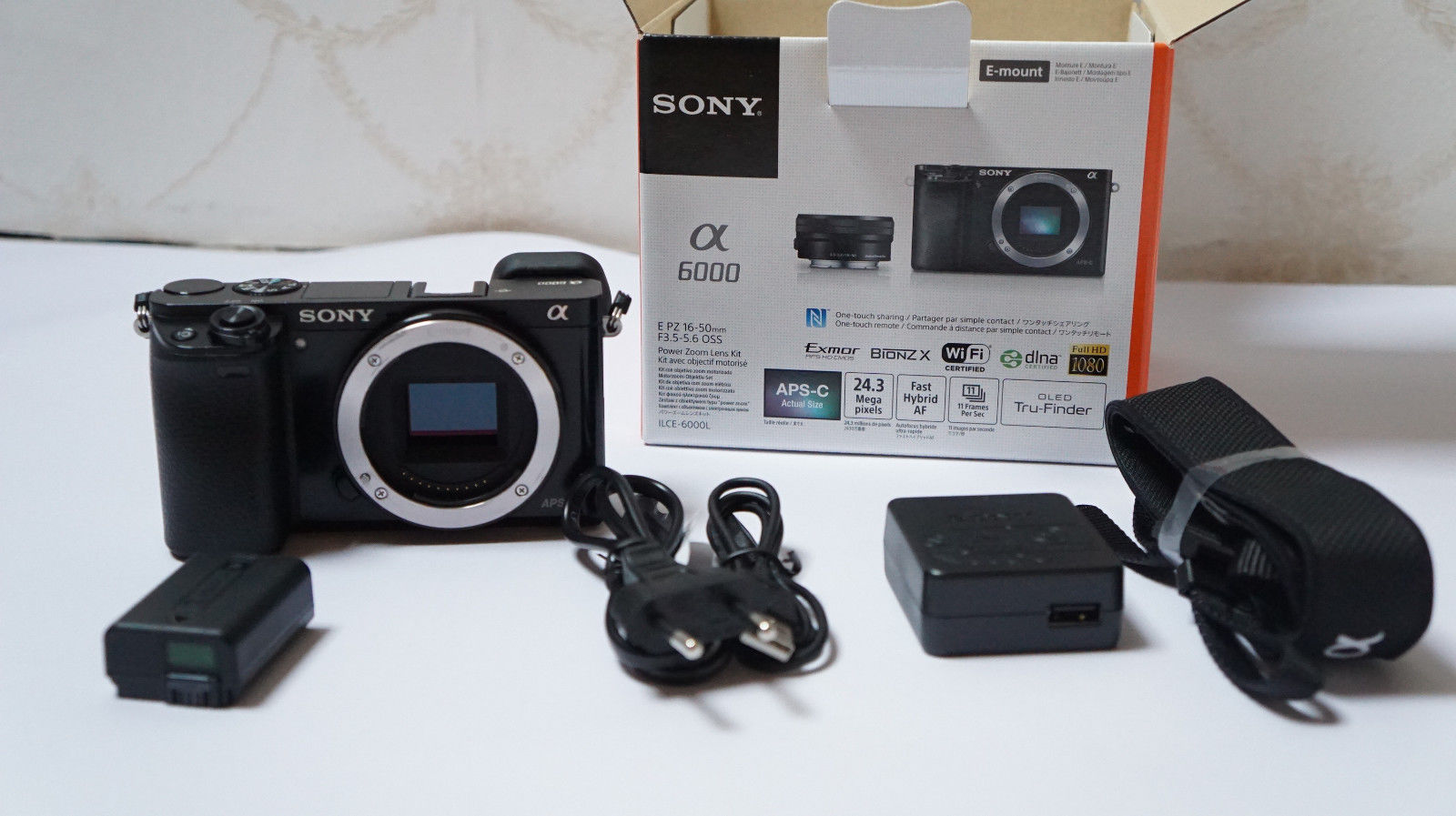 Sony Alpha ILCE-6000 Body 24.3 MP Schwarz TOP nur Gehäuse sehr gut E mount