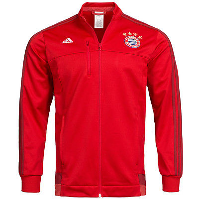 FC Bayern München adidas Anthem Jacket Präsentations Jacke AA1643 Rot XS-3XL neu