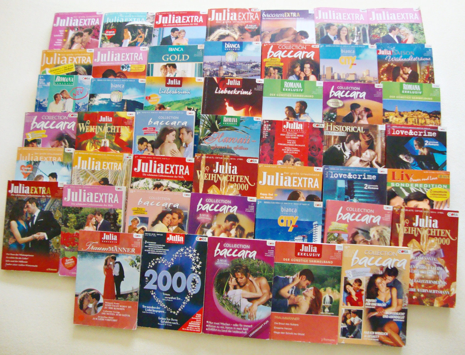 153 Romane, Julia, Baccara, Bianca, Tiffany, Romana, Cora Verlag, Frauenromane,