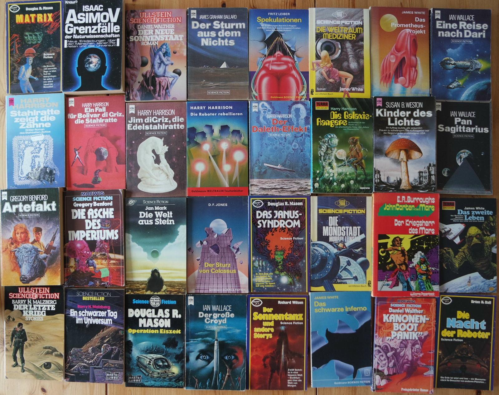 32x Science Fiction Romane Sammlung Heyne,Goldmann etc. - Buchpaket 8