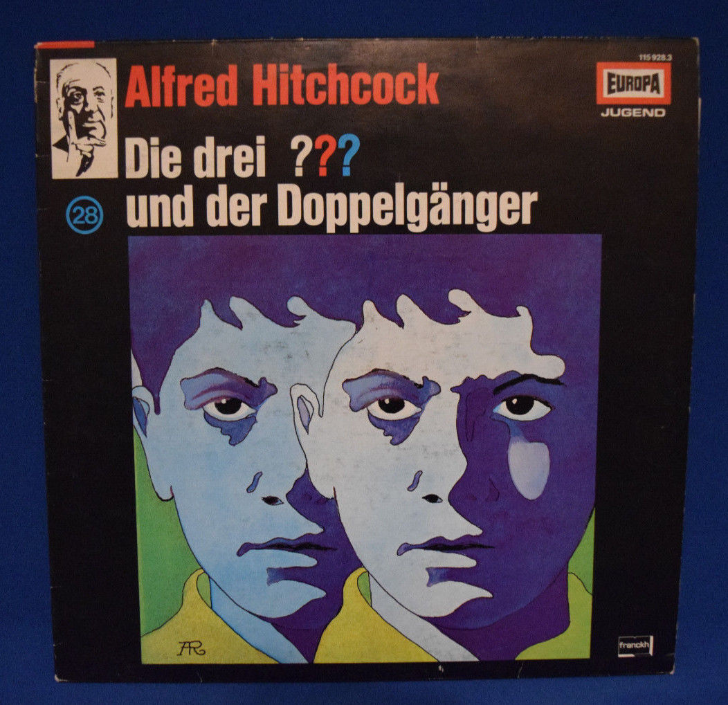 Die drei Fragezeichen und der Doppelgänger (28) Hörspiel Europa Vinyl LP, RAR !