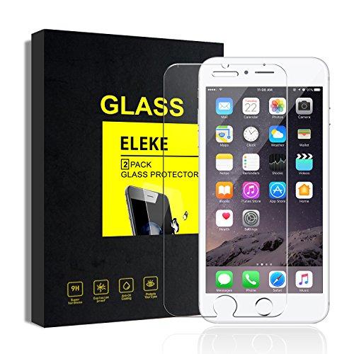 [2 Stück] iPhone 6 6s Plus Schutzfolien Panzerglas 3D Touch Kompatibel, 9H Härte, Anti-Kratzen, Anti-Öl, Anti-Bläschen, Anti-Fingerabdruck, Explosionsgeschützte Säule, Hoch lichtdurchlässig Displayschutzfolie (5.5 Zoll)