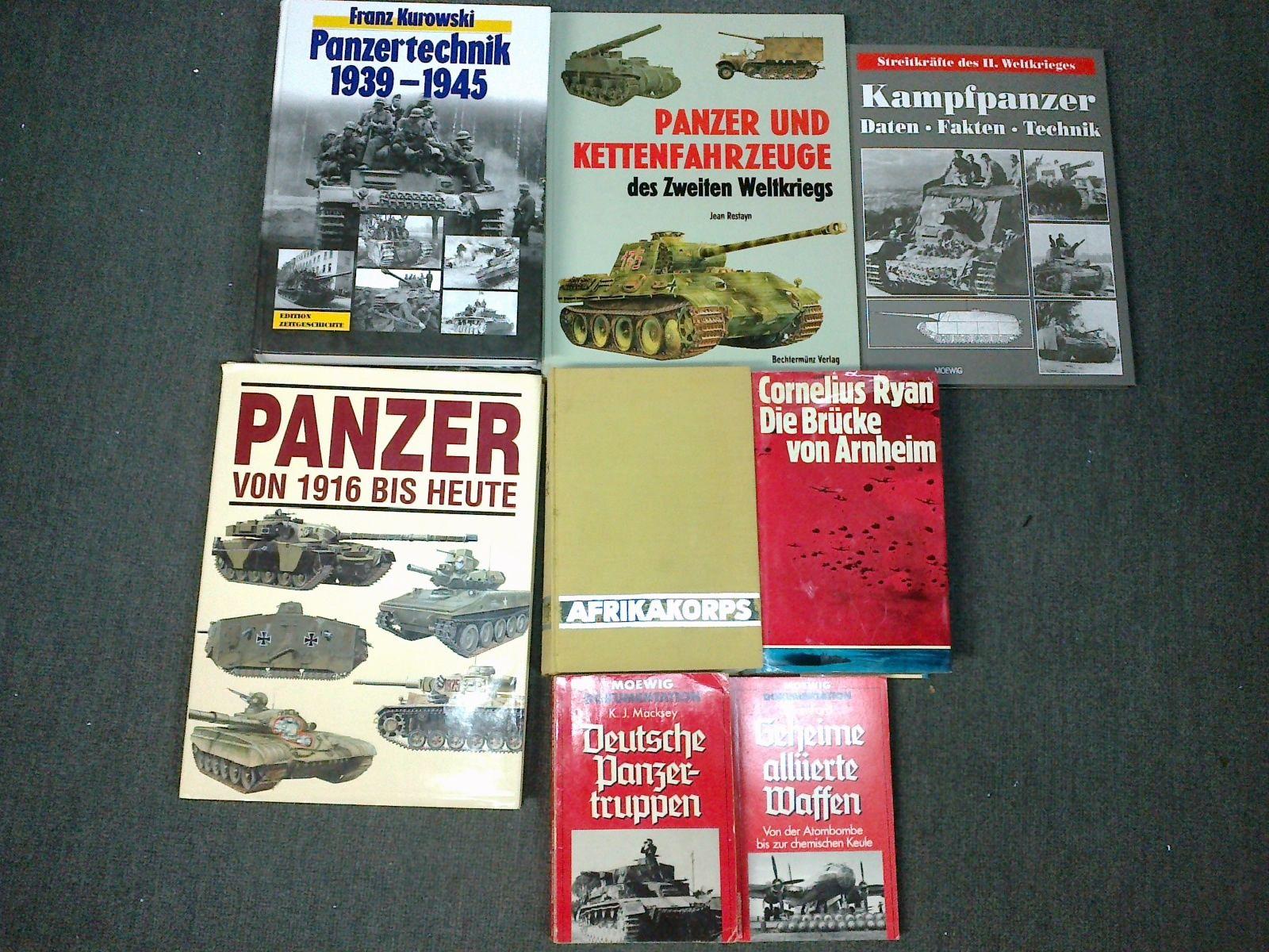 Buchpaket 2. Weltkrieg, div.  Bildbände usw...hauptsächlich Landkrieg
