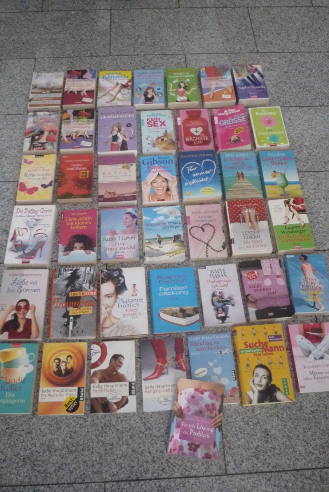 Buchpaket 43 Bücher Frauen Romane Susanne Fröhlich,Kerstin Gier,Sophie Kinsella.