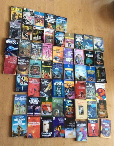 50 Romane Bücherpaket Fantasy / Science Fiction / Heyne Bücher / gemischt
