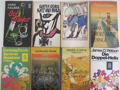 137 Bücher Taschenbücher rororo Verlag bis Seriennummer 8000