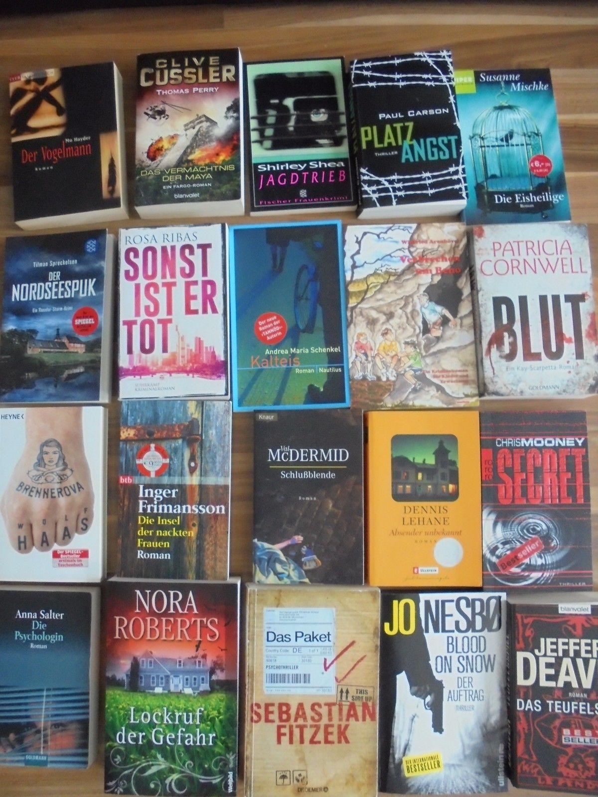20 Stck. - Bücher-Paket / Konvolut - Krimis / Thriller (TB)