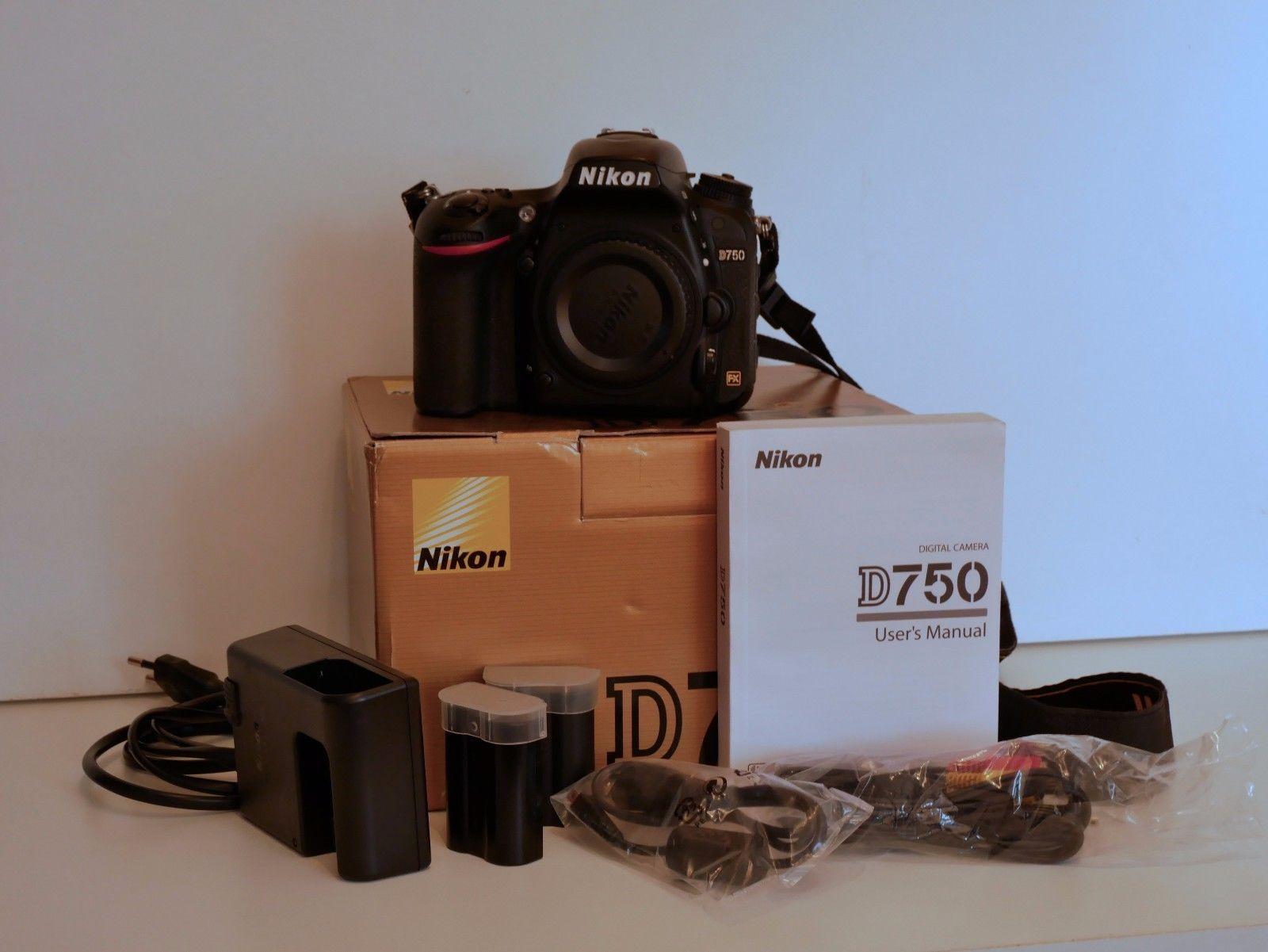 Nikon D750 Body, semiprofessionell, engl. Modell, 2 Jahre alt