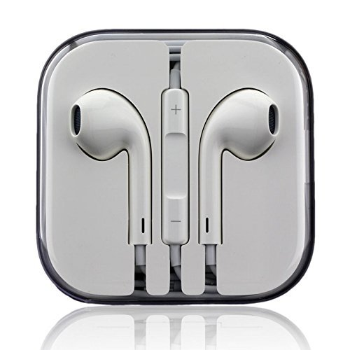 Original EarPods MD827ZM/A - iPhone 5, 5c, 5s, 6, 6 plus, iPad 5 Air Mini, iPod Classic, Touch, Nano - Stereo Headset Kopfhörer mit Fernbedienung und Mikrofon