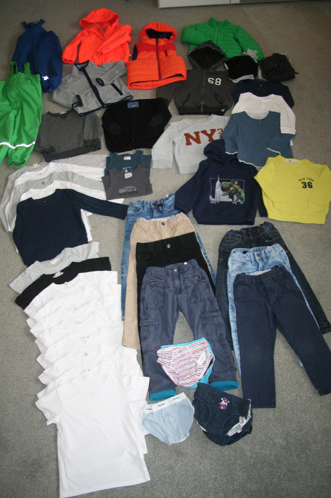 50+ Teile !!! Kleiderpaket Junge Herbst / Winter 98 / 104 *Jacken *Hosen *Jeans