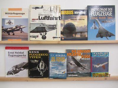 20 Bücher Bildbände Fliegen Flugzeuge Geschichte der Fliegerei Flugzeugtypen