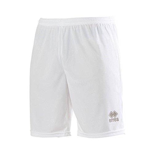 MAXI SKIN AD Trainingshose (knielang) von Erreà · ERWACHSENE Herren Damen Trainingsshorts (kurz) · REGULAR-FIT Bermuda Sporthose (komfortabel) für Teamsport · PERFORMANCE Running Sport Shorts (strapazierfähig) aus Polyester-Material · (Farbe weiß, Größe X