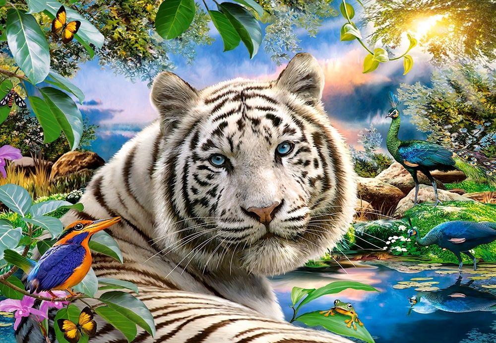 Puzzle Puzzel Twilight Löwe Tiger Fantasie Fantasy Tiere 1500