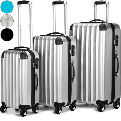 3tlg Reisekoffer Set Trolley Hartschale  Hartschalenkoffer Reisekofferset M-L-XL