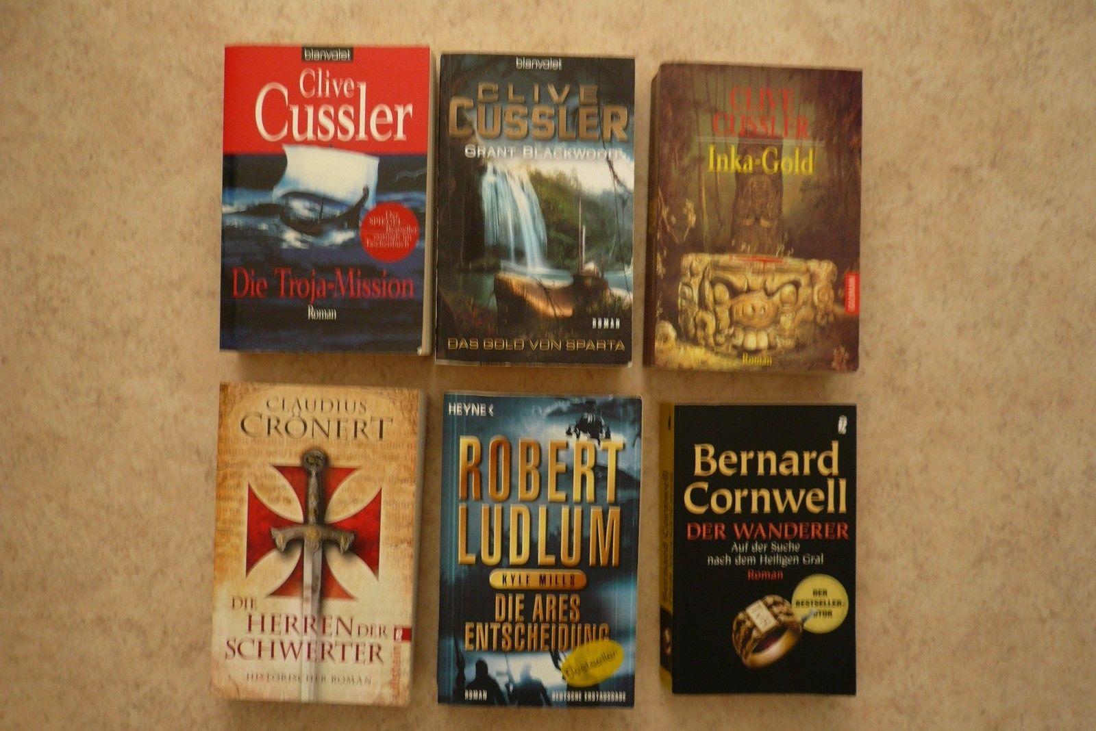 Büchersammlung Abenteuer, Action und Fantasy - 6 Taschenbücher guter Zustand