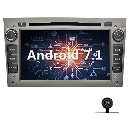 YINUO 7 Zoll 2 Din Autoradio Android 7.1.1 Nougat 2GB RAM Quad Core Moniceiver DVD GPS Navigation 1080P OEM Stecker Canbus für OPEL Vauxhall Astra (2004-2009) / Antara (2006-2011) / Vectra (2005-2008) / Corsa (2006-2010) / Zafira (2006-2010) / Meriva (200