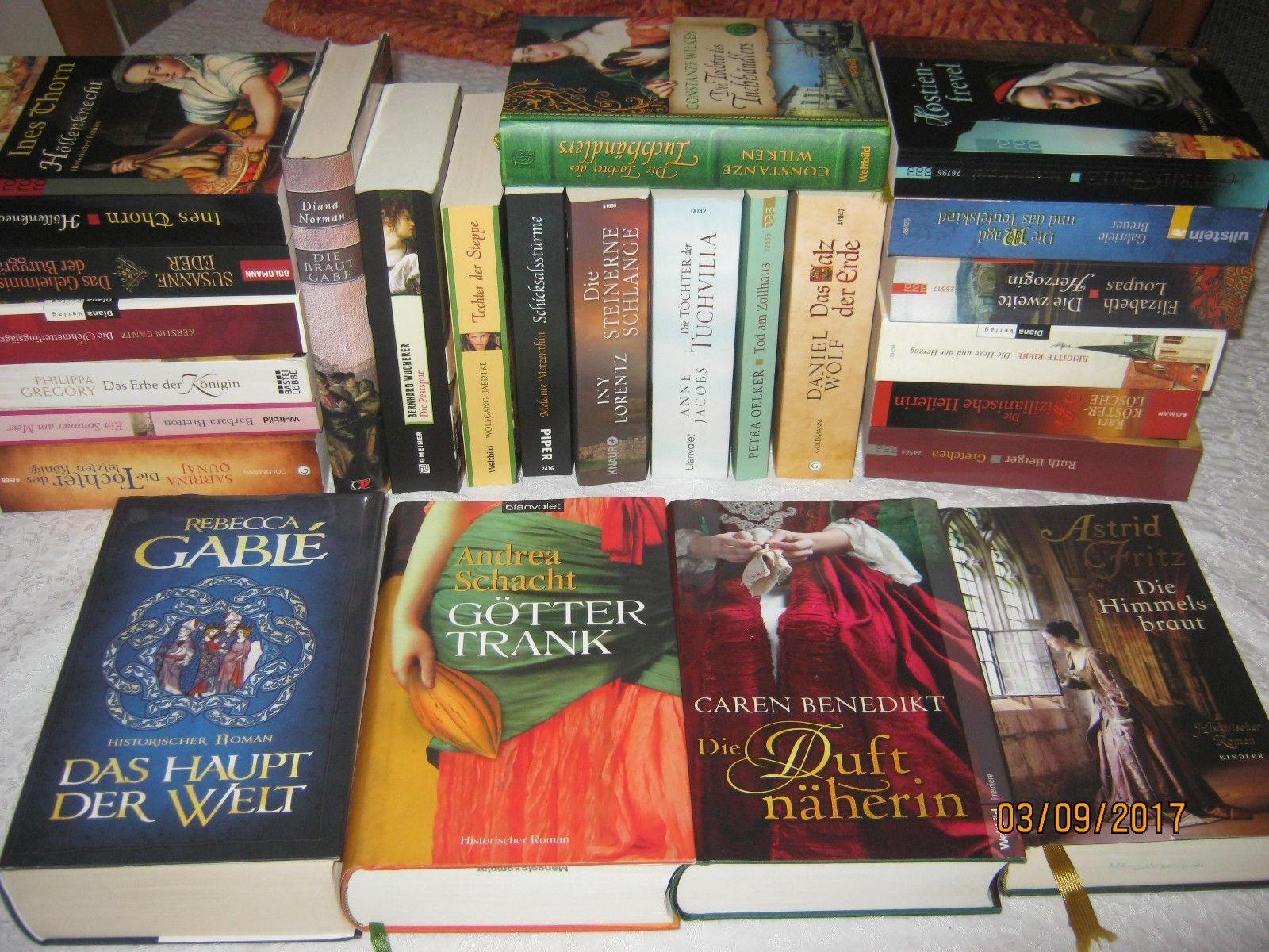 25 Historische Romane Konvolut Bekannter Autoren Iny Lorentz Andrea Schacht usw