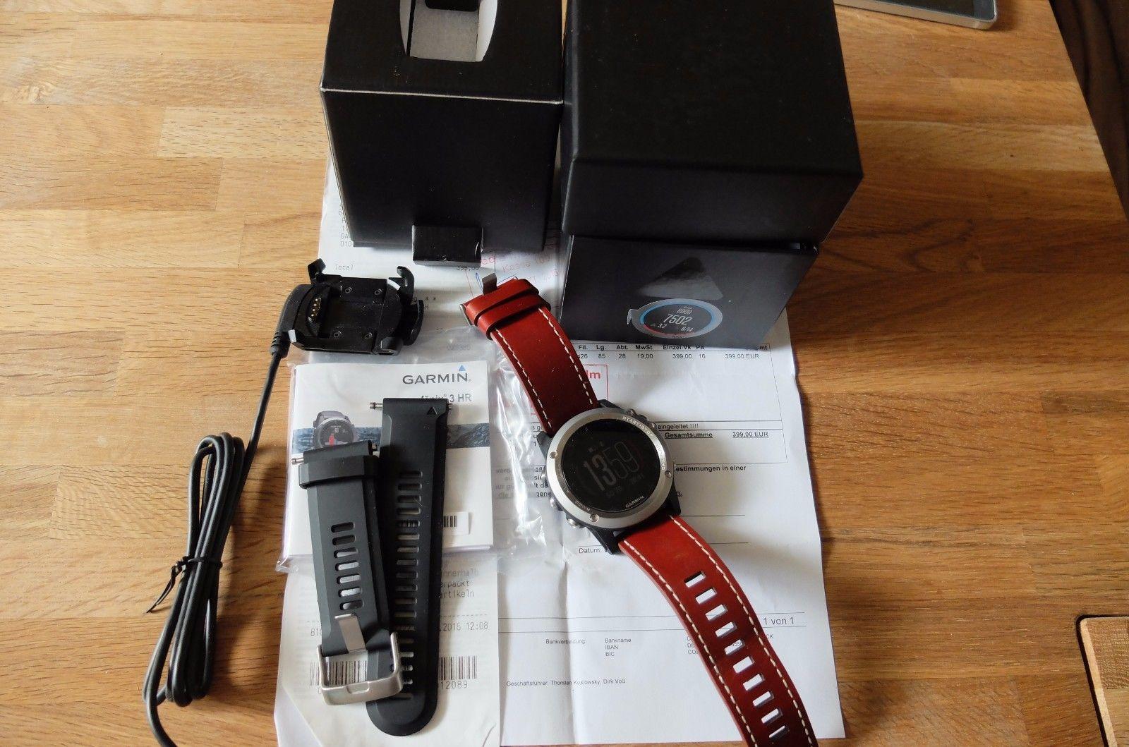 Garmin fenix 3 HR Silber GPS-Multi Sportuhr wie neu
