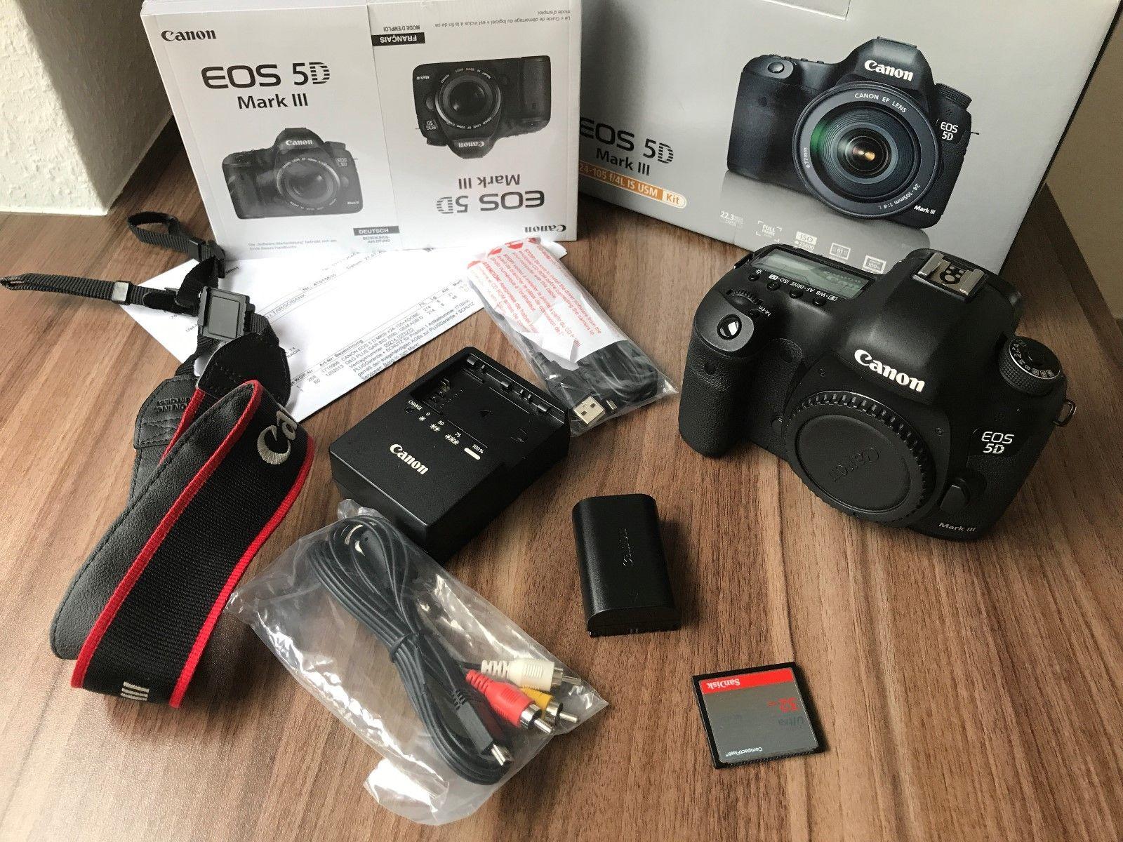 Canon EOS 5D Mark III 22.3 MP DSLR - unter 30.000 Auslösungen