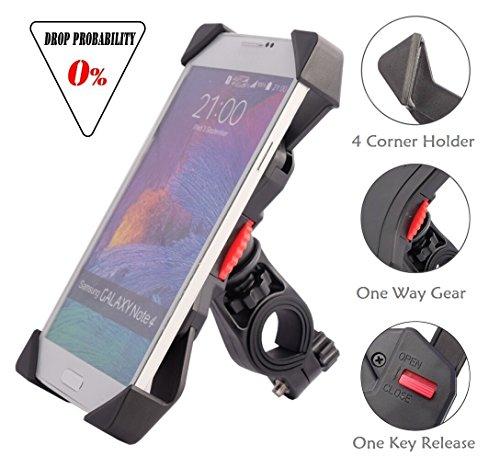 Handyhalterung Fahrrad, [Anti-shake], Audel Fahrradhalterung Motorrad Handy-Halter Verstellbar für von 3,5 '' bis 6,5