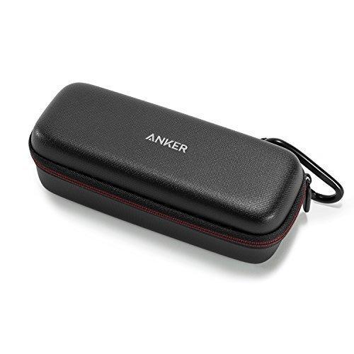 Anker SoundCore & SoundCore 2 Tragetasche - Kunstleder Case, Premium Bluetooth Lautsprecher Speaker Schutztasche, Hülle Cover (Schwarz)
