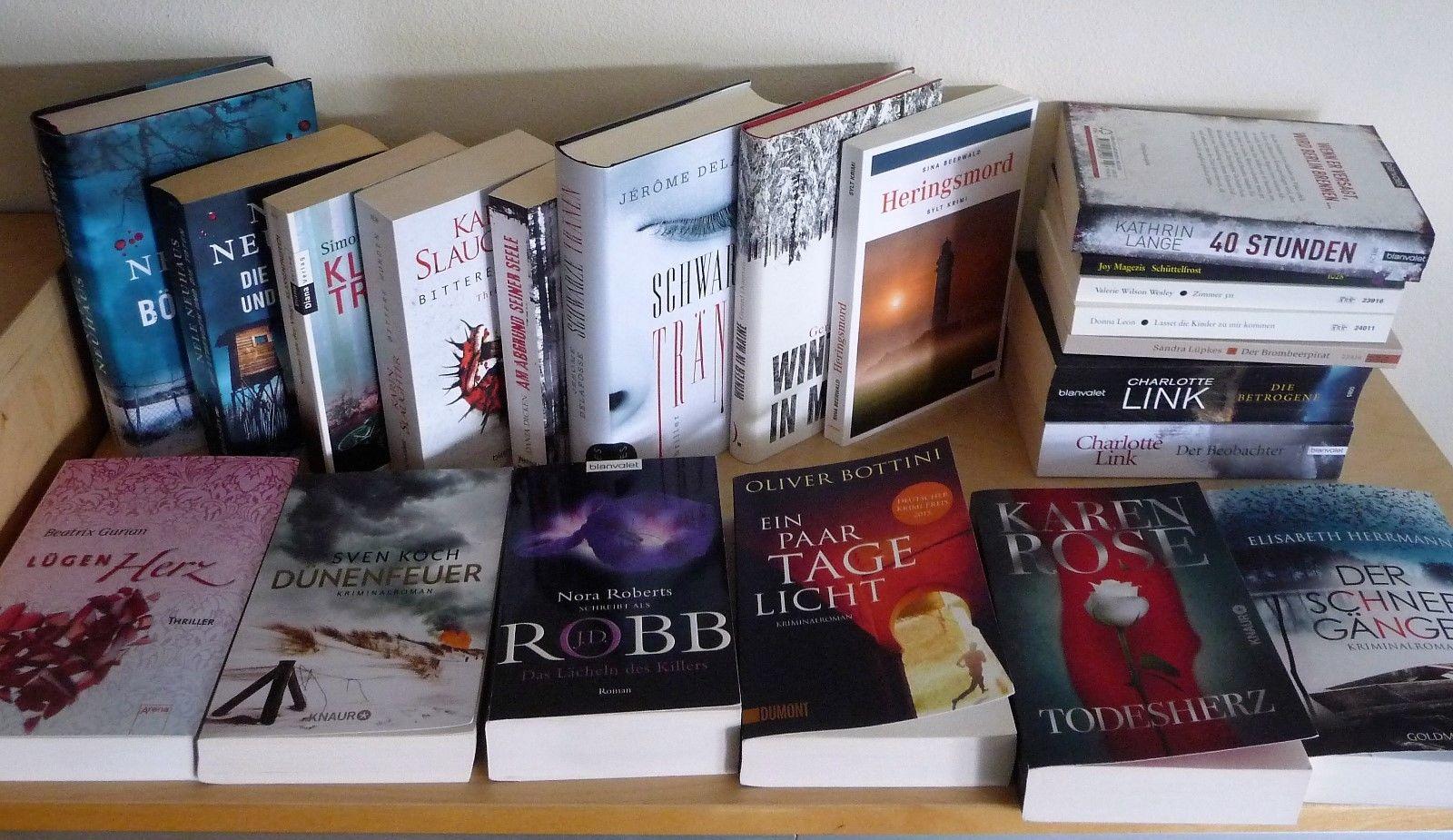 Bücherpaket 26 Krimis Thriller Nele Neuhaus Martin Walker und Andere