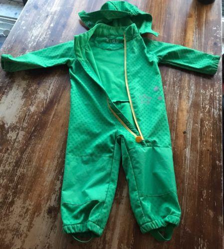 Tchibo Kinder Softshell Overall 86-92 Grün wie NEU