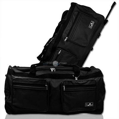 XXXL 160L Trolleytasche Reisetasche Sporttrolley Trolley Tasche Koffer schwarz