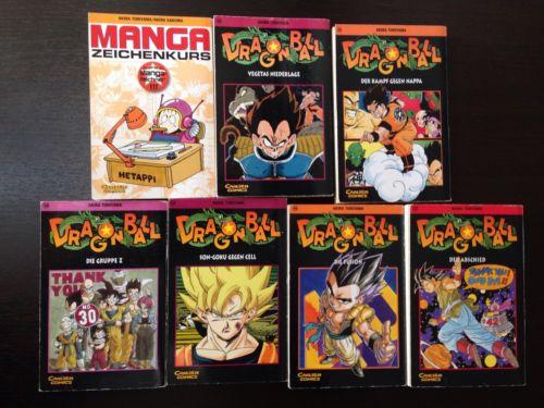 Dragon Ball Manga - Band 19, 20, 30, 34, 40, 42 + Manga Zeichenkurs