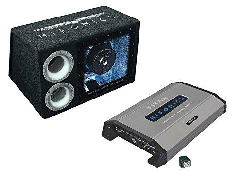 Hifonics Bass Paket mit 1000 Watt Bandpass Subwoofer ATL 12 BPS und 2 Kanal Endstufe TSI-600.2