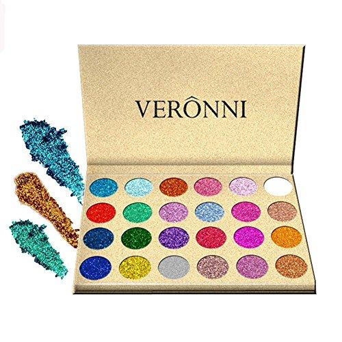 SOMEAS 24 Farben Lidschatten Langlebig Schimmer Glitter Palette