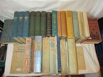 Orig. Rare uralte Sammlung aus Nachlaß ! Seltene Bücher gebunden  28x  mit Liste