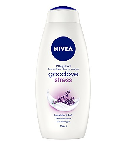 NIVEA Badezusatz mit Lavendelhonig-Duft, Anti Stress, 1 x 750 ml Flasche, Goodbye Stress Cremebad
