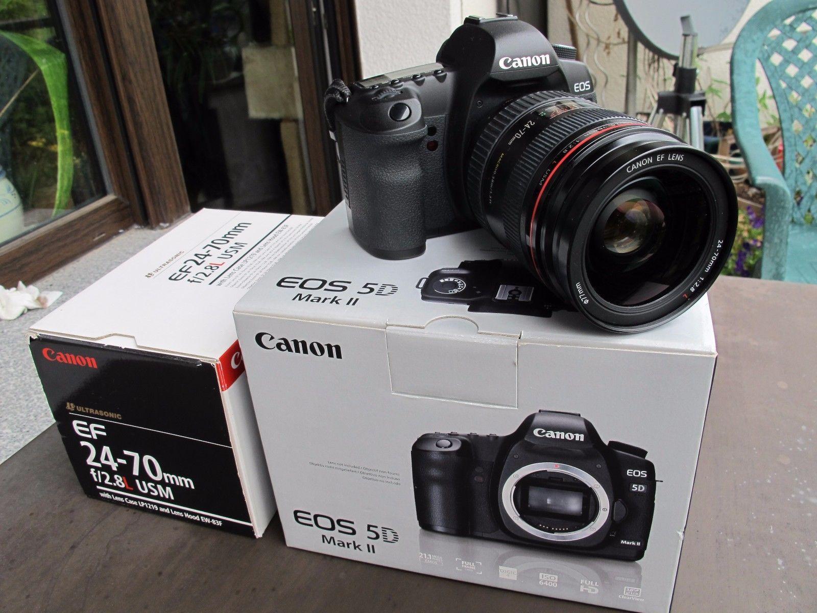Canon EOS 5D Mark II 21.1MP Digitalkamera - Schwarz (Kit mit EF L USM 24-70mm)