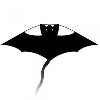Fledermaus Drachen - Little Bat BLACK - Einleiner-Drachen für Kinder ab 3 Jahren - 63 x 30cm - inklusiv Drachenschnur und langem Drachenschwanz