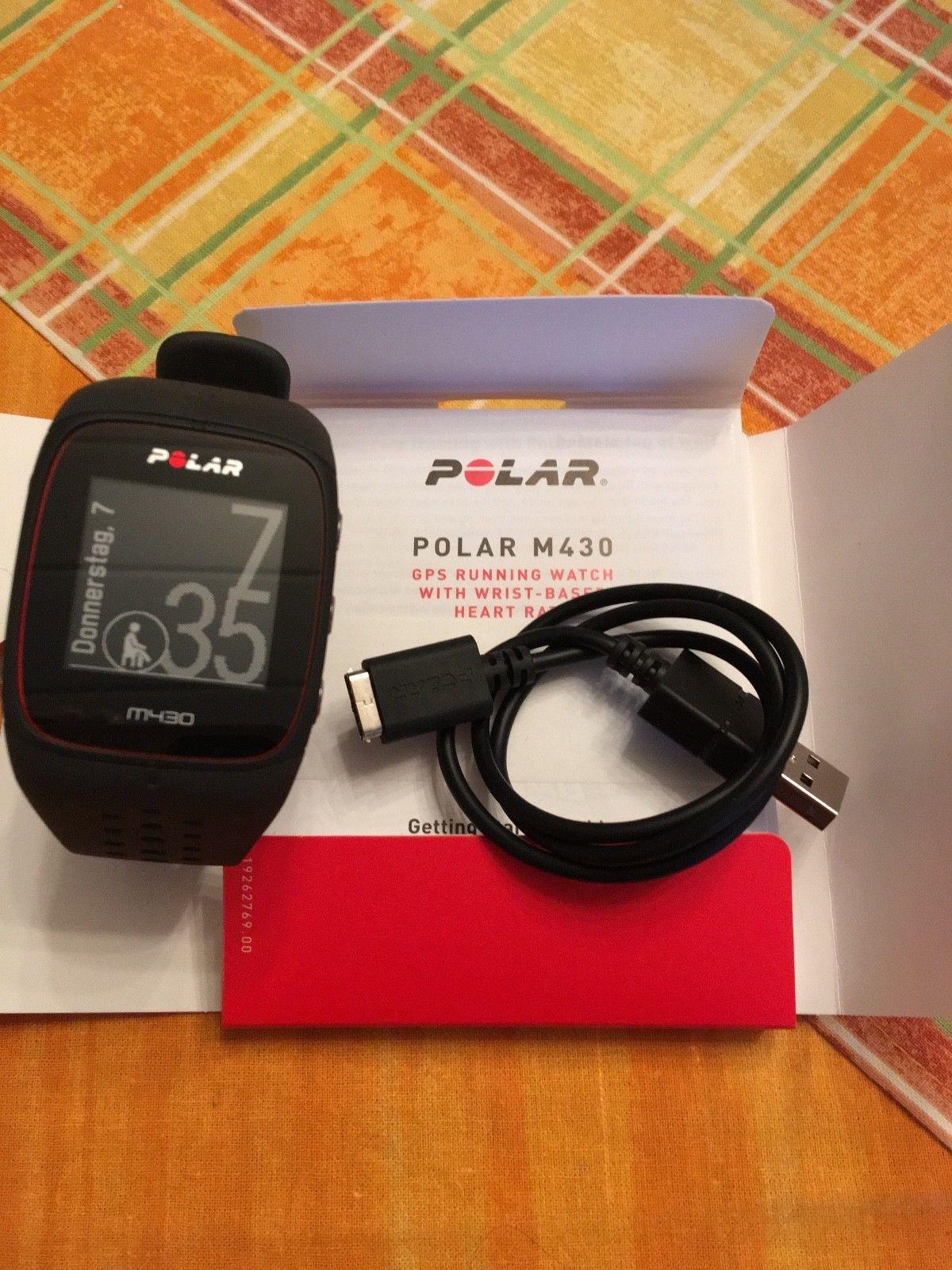 Polar M430 Schwarz, Lauf-/Pulsuhr mit GPS, Herzfrequenzmessung, Bluetooth