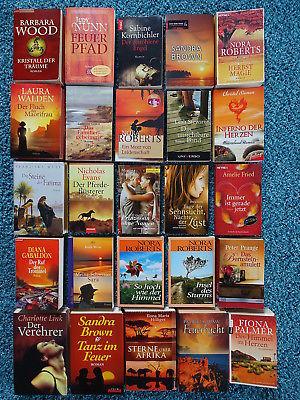 Bücherpaket 25 Liebesromane Frauenromane: Link Gabaldon Hilliges Siemen Walden