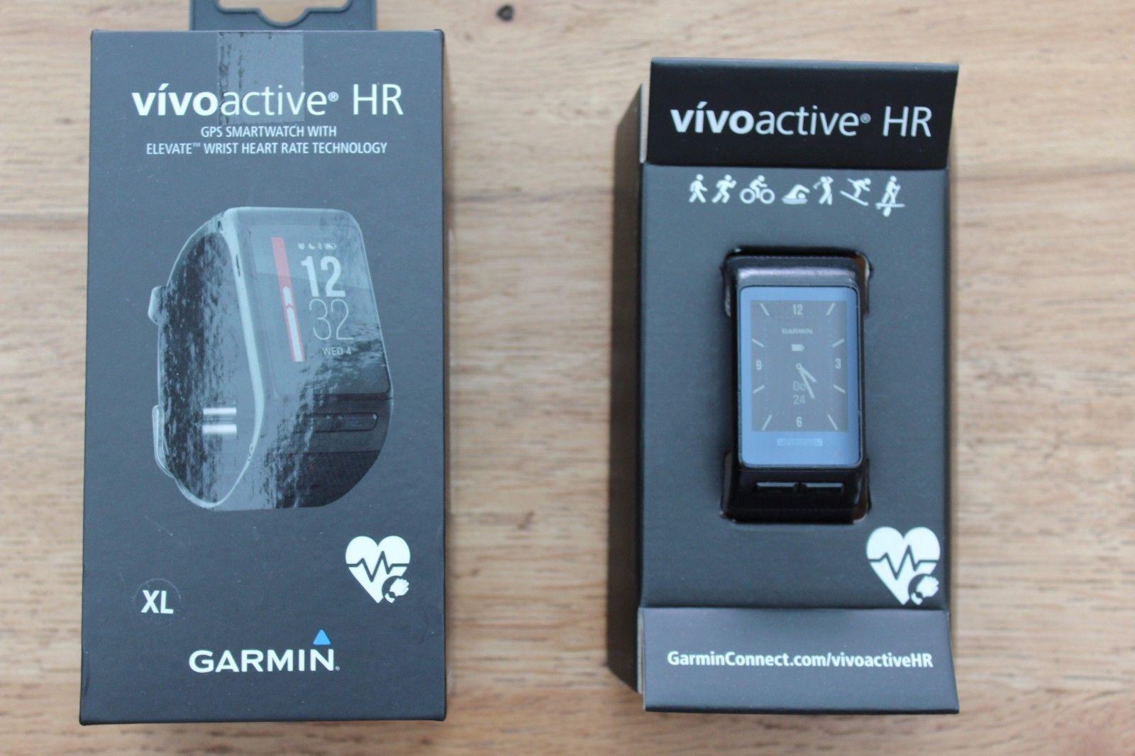 Garmin vivoactive HR Sport GPS-Smartwatch Aktivitätentracker Gr. XL Schwarz