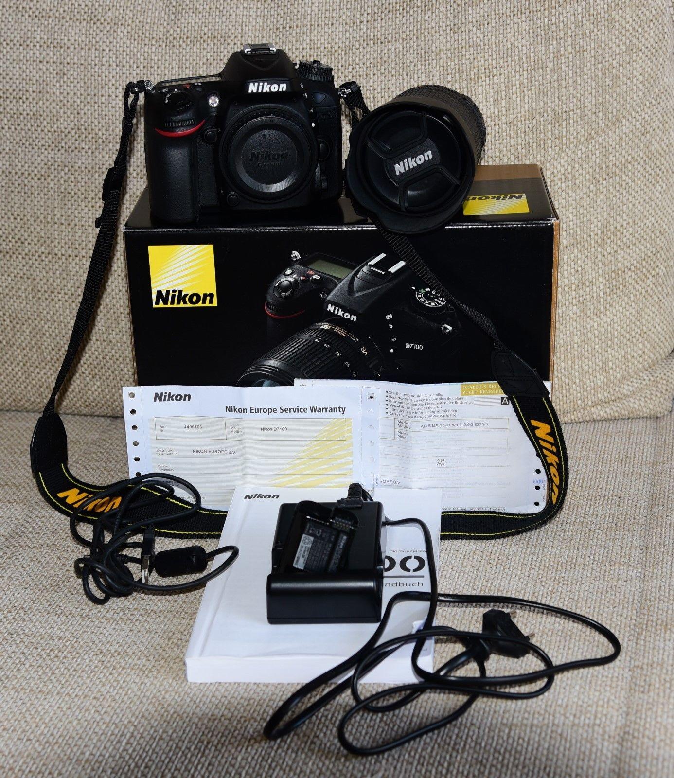 D7100-DSLR (Kit m/ AF-S DX 18-105mm...)-TOP-ZUSTAND-1447 Klicks !