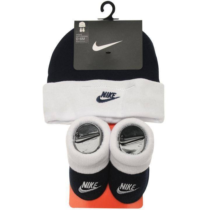 Nike Air Baby Debut Schuhe + Mütze Jungen Gr. 0-6 Monate, Black neu