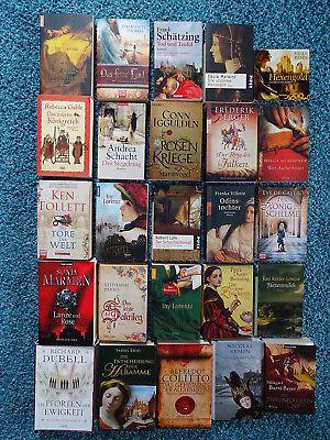 Bücherpaket 25 historische Romane: Gablé Ebert Dübell Durst-Benning Rehn Thomas