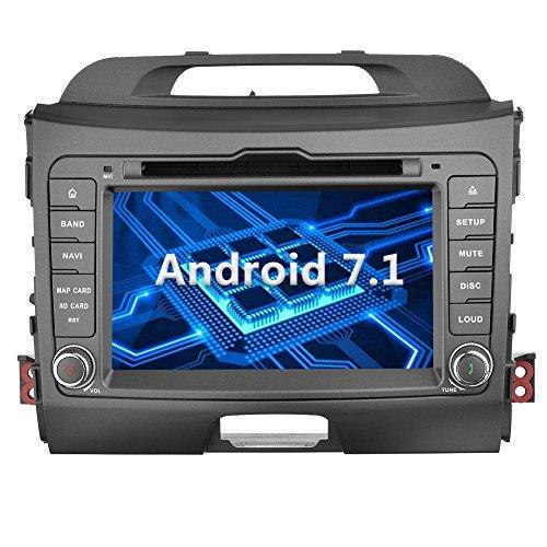 YINUO 7 Zoll 2 Din Android 7.1.1 Nougat 2GB RAM Quad Core Autoradio Moniceiver DVD GPS Navigation 1080P OEM Stecker Canbus für KIA SPORTAGE 2010-2012 Unterstützt DAB+ Bluetooth OBD2 Wlan (Autoradio)