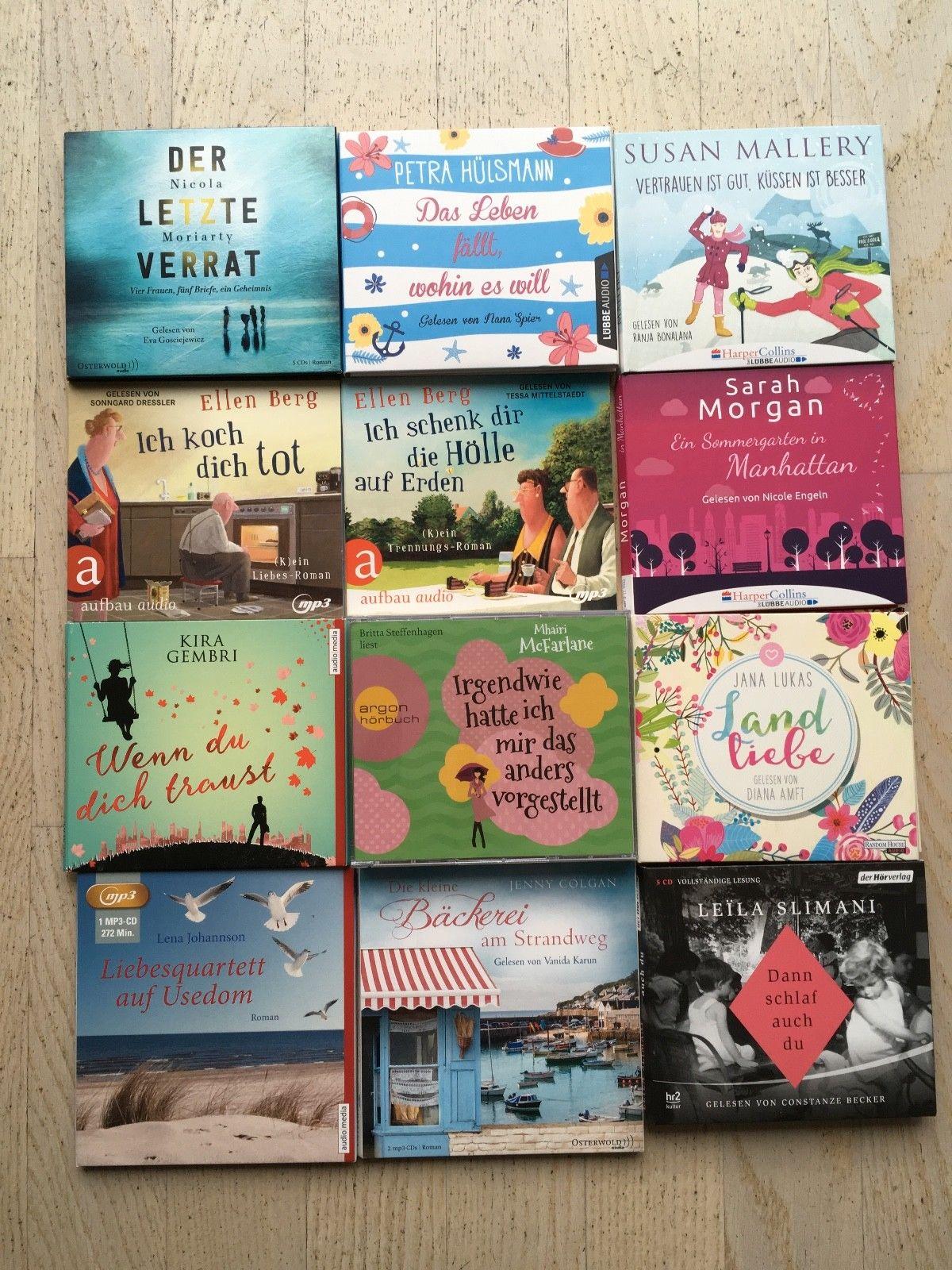 Hörbuch Sammlung / Hörbuch Paket: 12 Hörbücher (Romane)