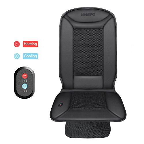Naipo Auto Sitzkissen mit Heizung Kühlung Funktion und 3D belüfteten Löchern für den Einsatz im Auto, zu Hause und im Büro