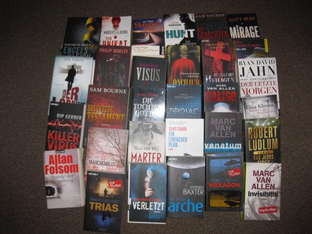 Bücherpaket  31x Krimi & Thriller  Taschenbuch & Gebundene Ausgaben