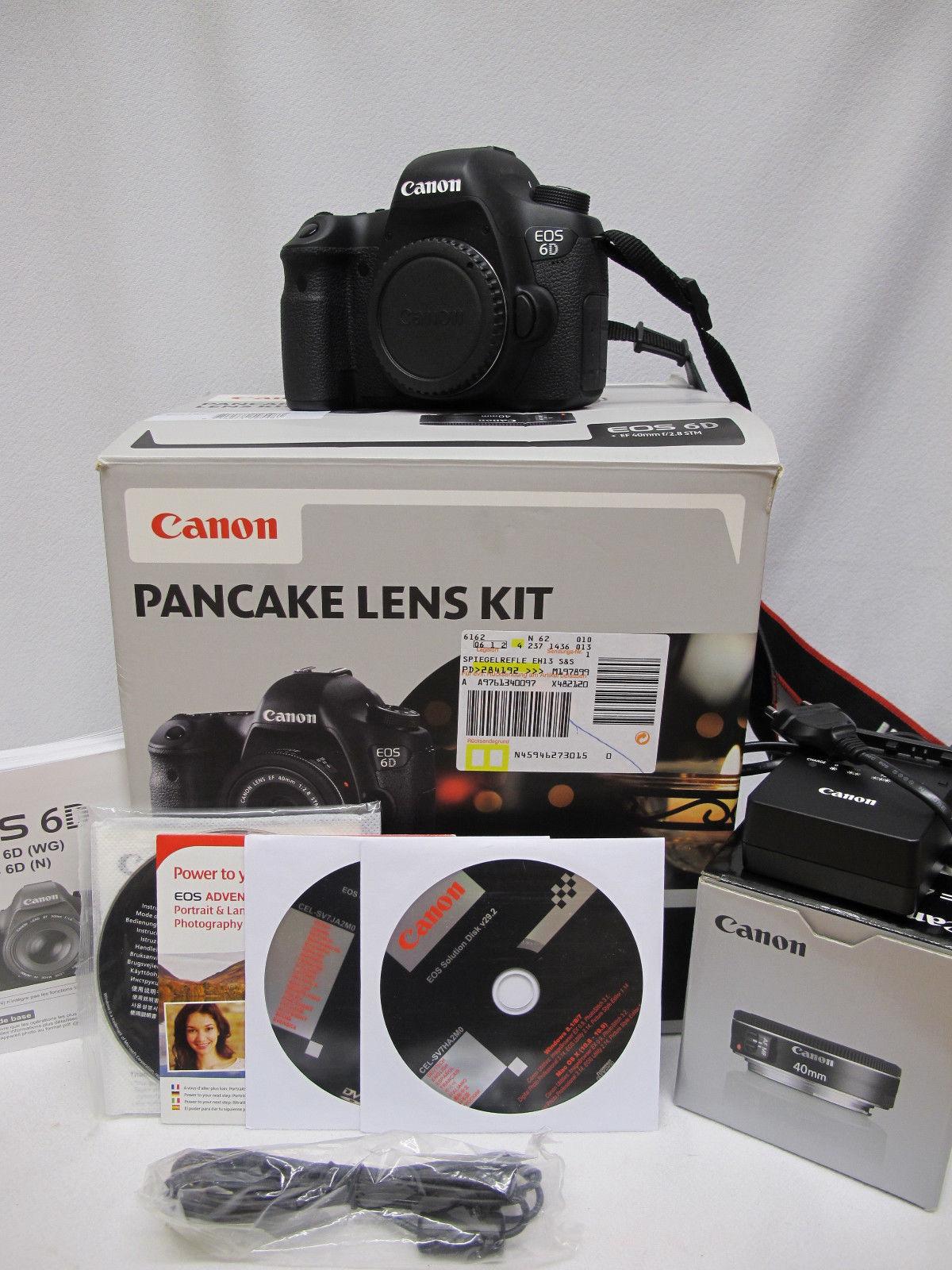 Canon EOS 6D 20.2MP Digitalkamera - Schwarz (Kit mit EF STM 40mm Objektiv)