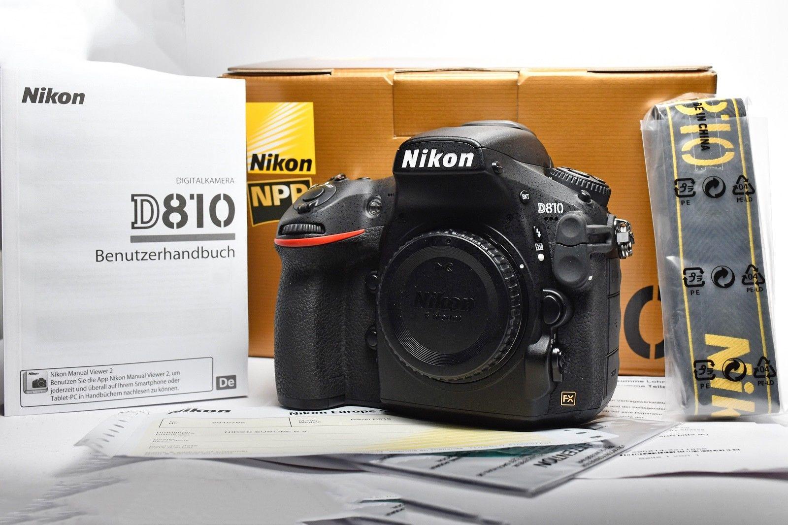 Nikon D810 body, 4411 Auslösungen, NPS clean + check, OVP, top, Nichtraucher