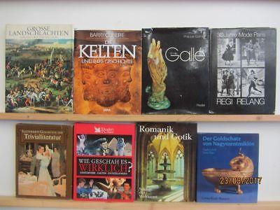 20 Bücher Bildbände Kunst Kultur Geschichte Weltgeschichte Paket 1