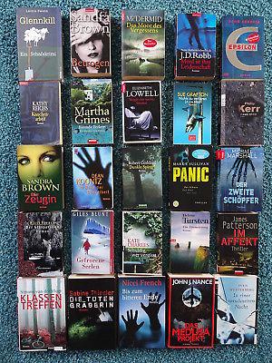 Bücherpaket 25 Krimis Thriller: McDermid Koontz Reichs Thiesler French Patterson